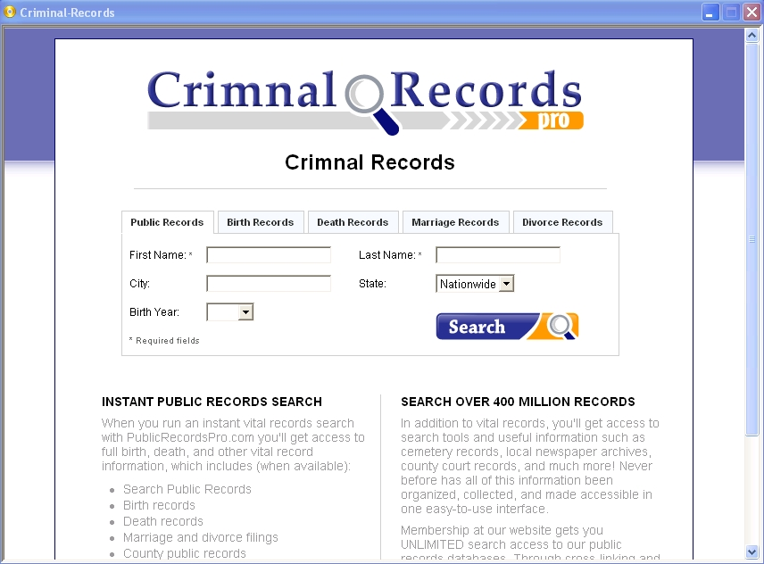 criminal background clearance