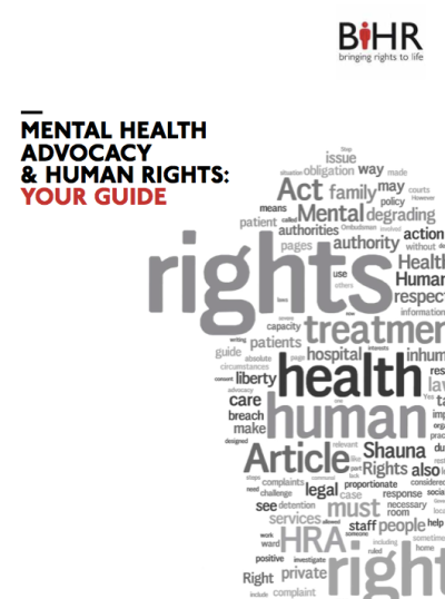 human rights and mental health International diploma in mental health, human rights and law about the un convention on the rights of persons with disabilities (crpd) of which india is a ratified member, will come into force in many countries in the coming months.