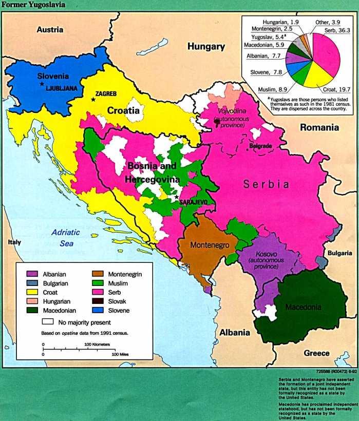 yugoslav ethnic map